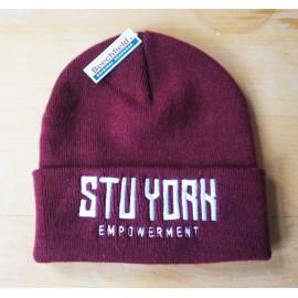 Empowerment - Stu York Beanie burgundy/white
